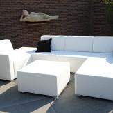 Loungeset wit met beeld
