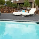Luxe loungebed, lage variant en ligbed met verstelbare leuning