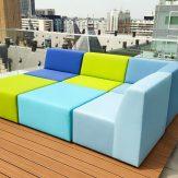 Loungebank kleurrijk
