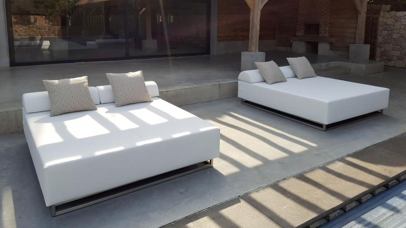 Loungebedden terras design